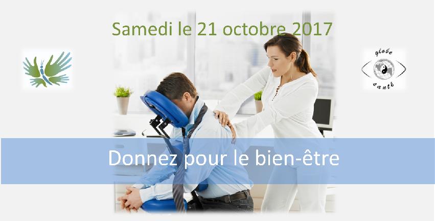 Globe Santé, Montréal, Fondation de la Massothérapie, massage sur chaise
