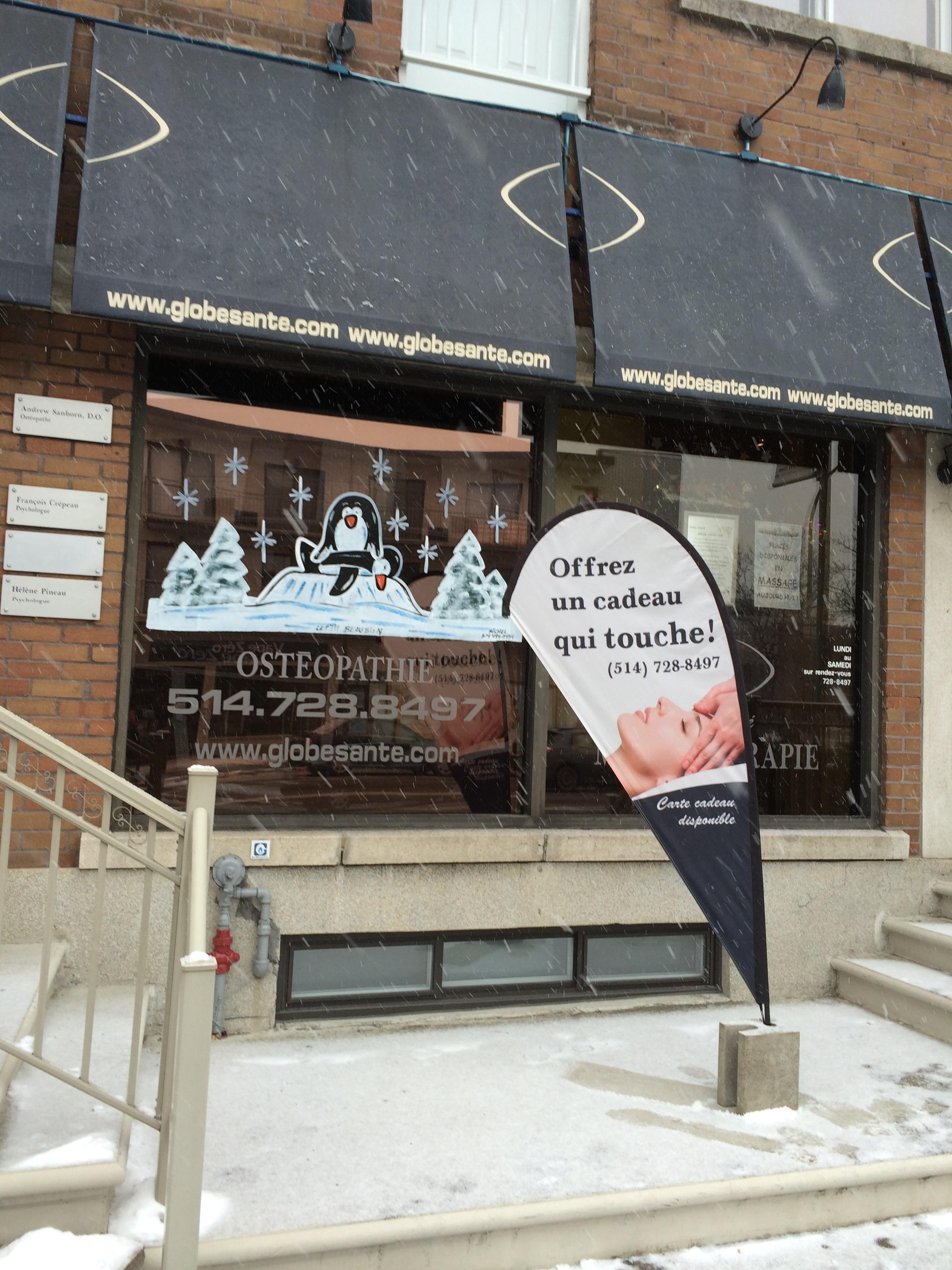 Massage, massothérapie, Montréal, Globe Santé